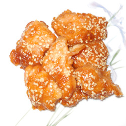 Sesame Chicken Nuggets BAKED!